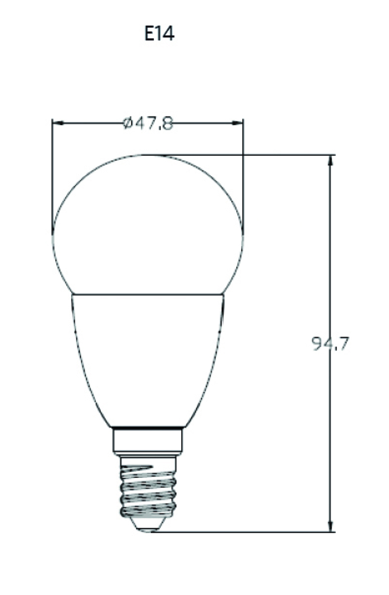 maatschets 14004859x LED G50 E14