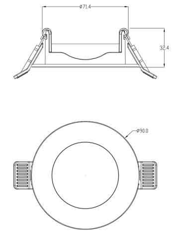 Frame MR16 90mm rond