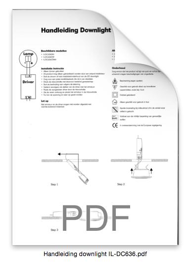 Handleiding downlight IL-DC636