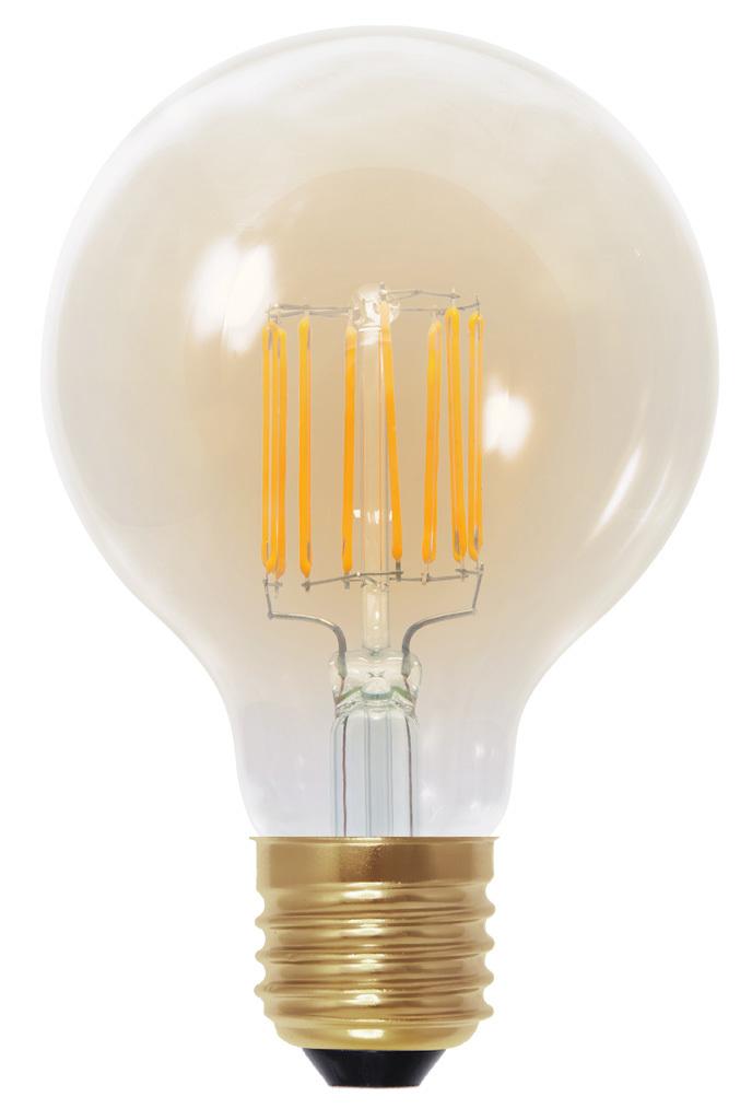 Led Globe lamp 80 Segula E27 6W Golden glass dimbaar