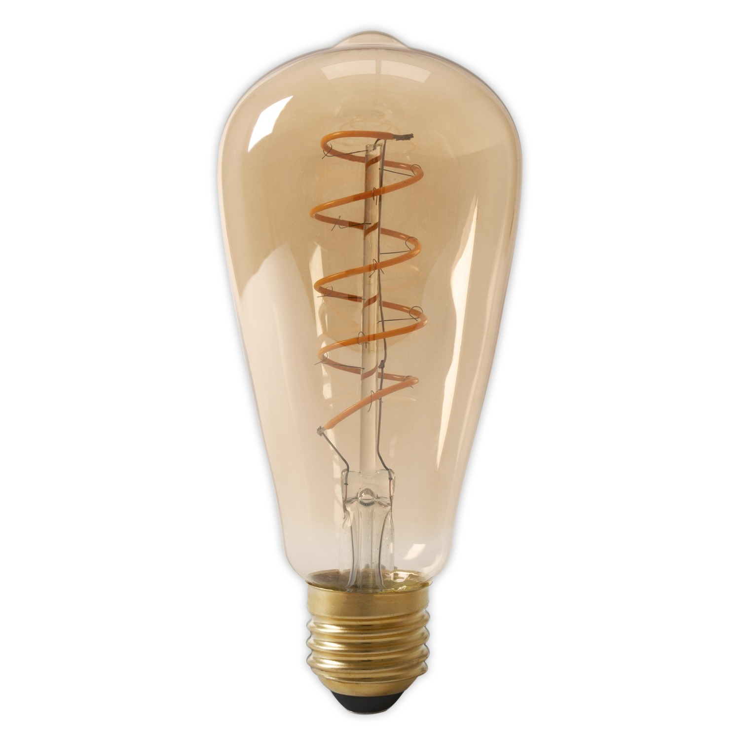 LED Full Glass Flex Filament Rustik Lamp Calex 4W E27 Gold dimbaar