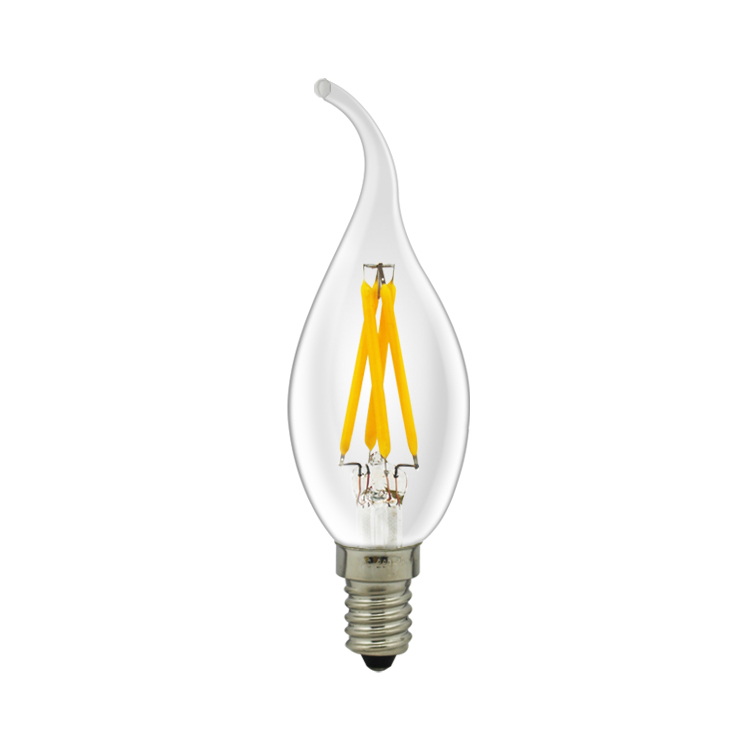 LED Kaarslamp met tip E14 3,5W warm wit filament dimbaar
