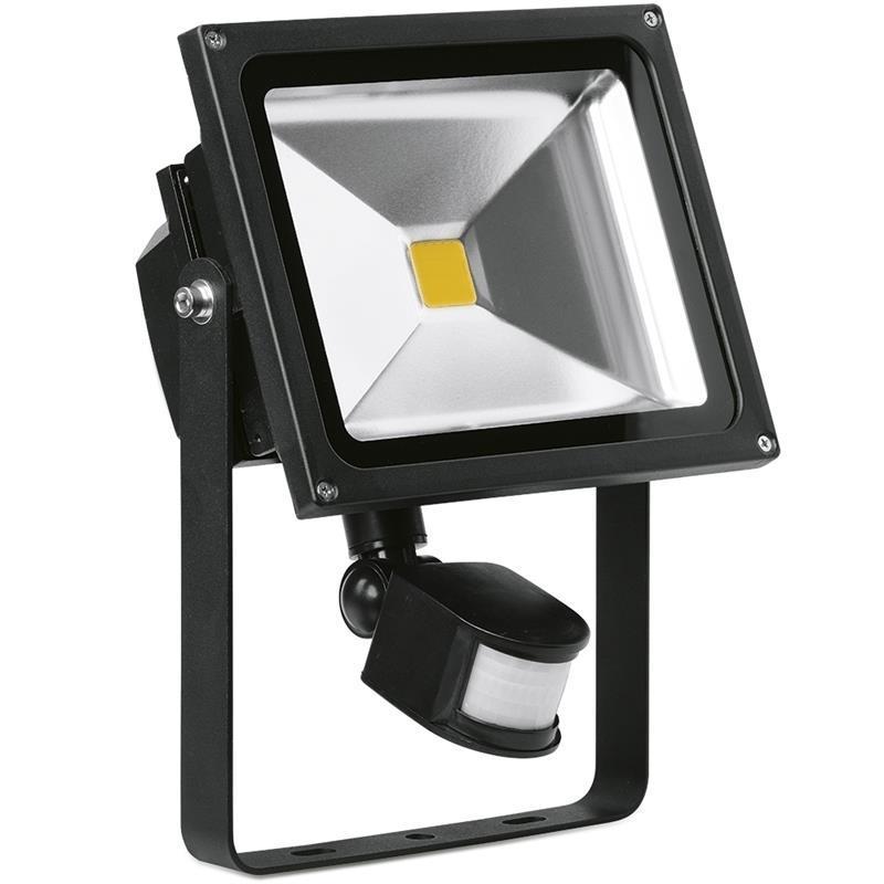 LED Flood schijnwerper Enlite 30W koel wit 230V 2250 lumen met sensor